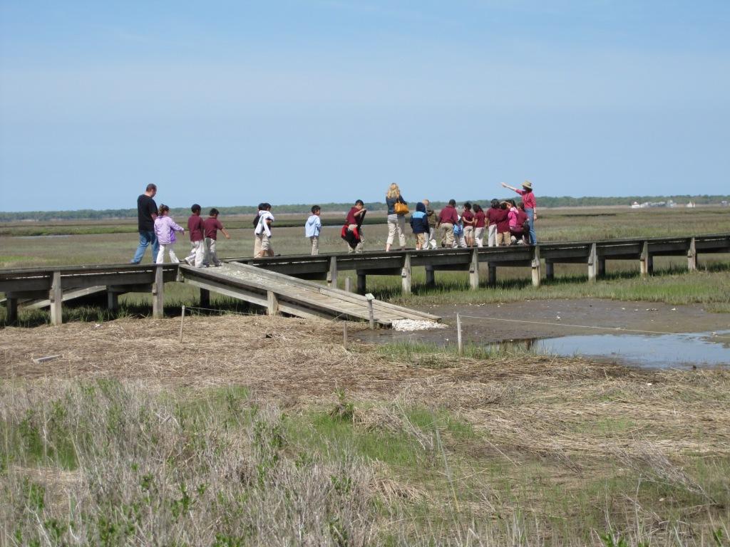 Our boardwalk before Hurricane Sandy