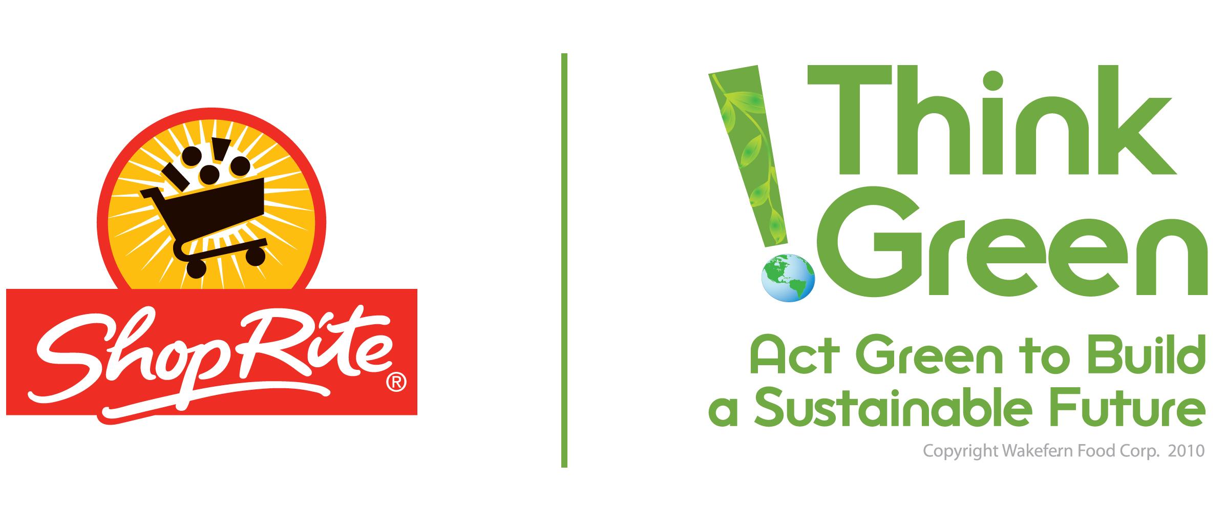 Think Green ShopRite Horizontal Logo - The Wetlands Institute